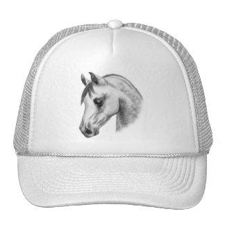 arab horse head trucker hat
