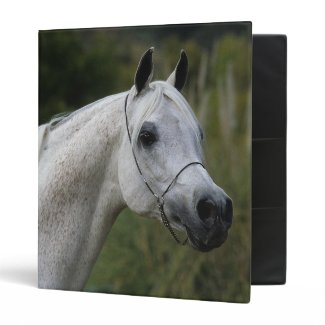 Arab Horse Headshot 1 Vinyl Binder