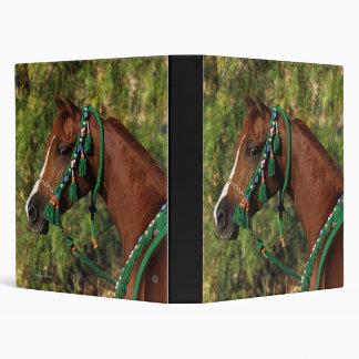 Arab Horse Headshot with Bridle Vinyl Binder