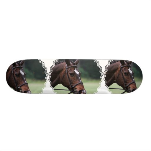 Arab Horse with White on Face Skateboard