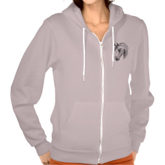 arab horse zip up hoody
