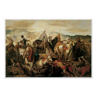 Arab Horsemen Reclaiming their Dead, 1850 Posters