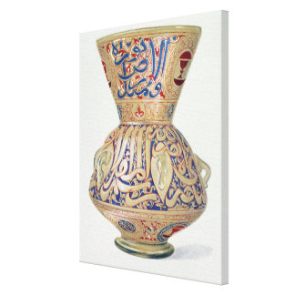 Arab Lamp, plate VIII from a late 19th century alb Canvas Print