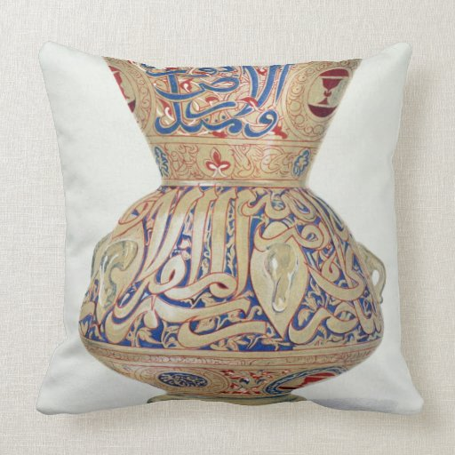 Arab Lamp, plate VIII from a late 19th century alb Throw Pillows