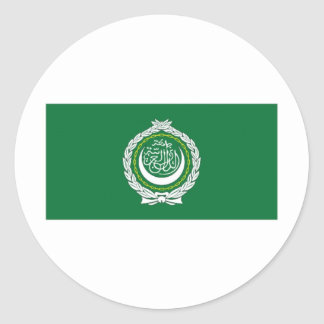 Arab League Flag Classic Round Sticker