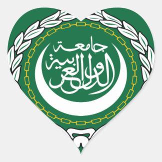 Arab League Flag Heart Sticker