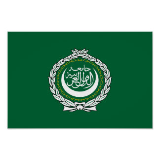 Arab League flag symbol islamic muslim Poster