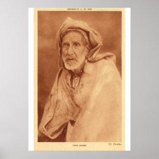 Arab man, early 20th century poster