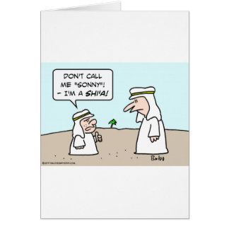 arab muslim moslem islam sunni shi'a shia sonny greeting cards