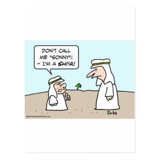 arab muslim moslem islam sunni shi'a shia sonny postcard