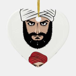 Arab Muslim vector Ceramic Ornament