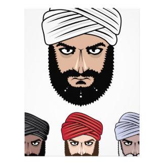 Arab Muslim vector Letterhead