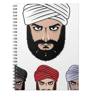 Arab Muslim vector Notebook