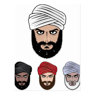 Arab Muslim vector Postcard