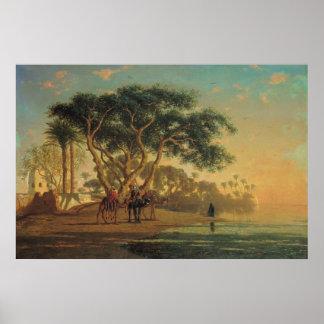 Arab Oasis, 1853 Poster