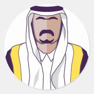 Arab Prince vector Classic Round Sticker