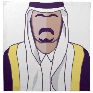 Arab Prince vector Cloth Napkin