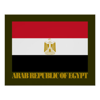 Arab Republic of Egypt Flag Poster