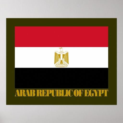 Arab Republic of Egypt Flag Posters