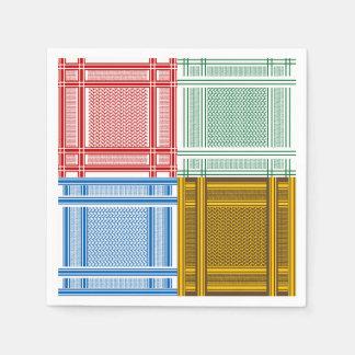 Arab Shemagh Scarves Paper Napkins