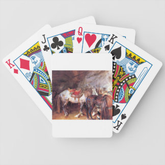 Arab Stable by John Singer Sargent Bicycle Playing Cards