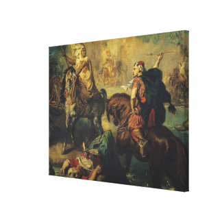 Arab Tribal Chiefs in Single Combat Canvas Print