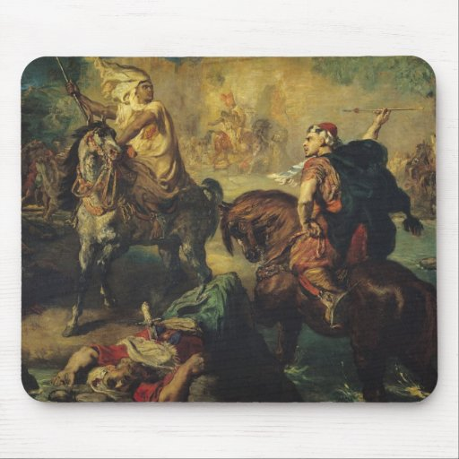 Arab Tribal Chiefs in Single Combat Mouse Pad