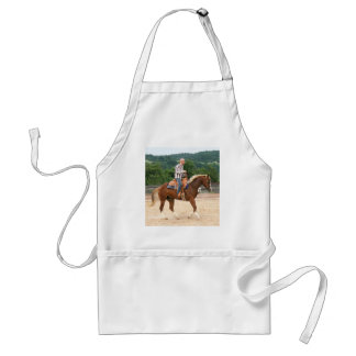 Arab Western Riding Bald Man Adult Apron