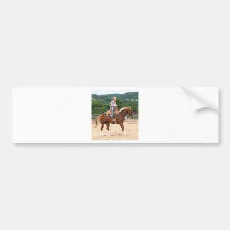 Arab Western Riding Bald Man Bumper Sticker