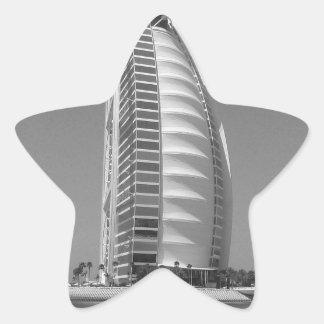 Árabe del Al de B&W Burj Pegatina En Forma De Estrella