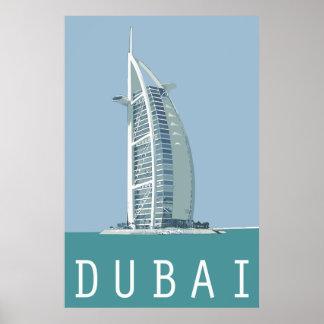 Árabe del al de Dubai Burj Póster