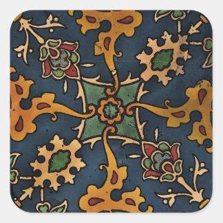 Árabe del l'Art de Nouveau del arte Pegatina Cuadrada