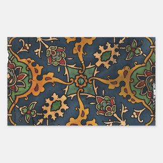 Árabe del l'Art de Nouveau del arte Pegatina Rectangular