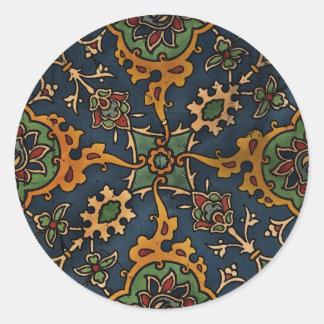 Árabe del l'Art de Nouveau del arte Pegatina Redonda