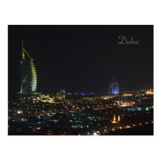 Árabe en la noche Dubai - postal del Al de Burj