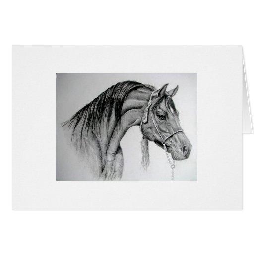 árabe ian del caballo tarjeta de felicitación