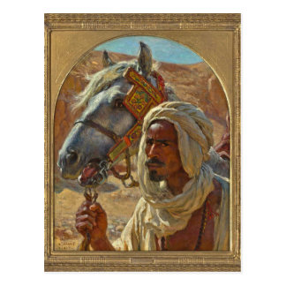 Árabe y su caballo por Dinet Tarjetas Postales