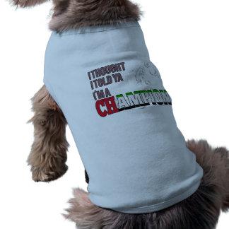 Árabe y un campeón camisetas mascota
