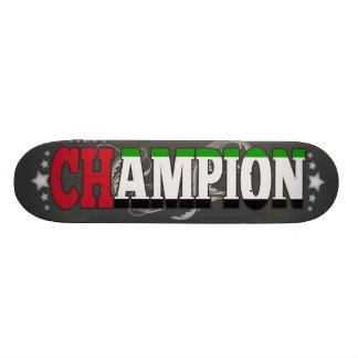 Árabe y un campeón tablas de skate
