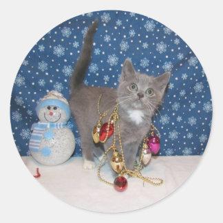 Arabella's 1st  Christmas Round Sticker