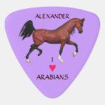 Árabes árabes del amor del personalizado I del Uñeta De Guitarra