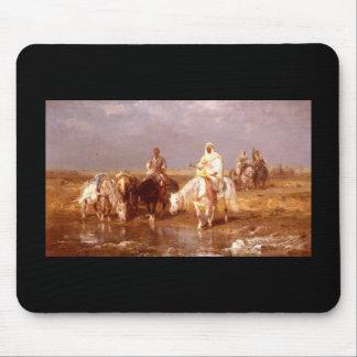 Árabes de Adolfo Schreyer que riegan sus caballos Alfombrilla De Raton
