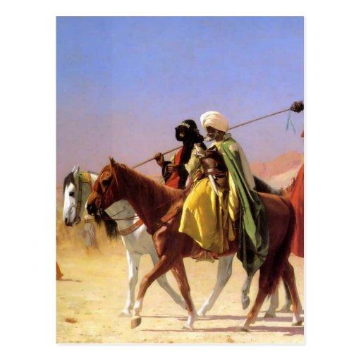 Árabes que cruzan el desierto por Jean-León Gerome Postales