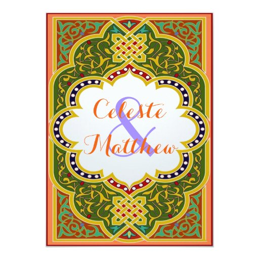 Arabesque Arab Muslim Moroccan Wedding / Party Card
