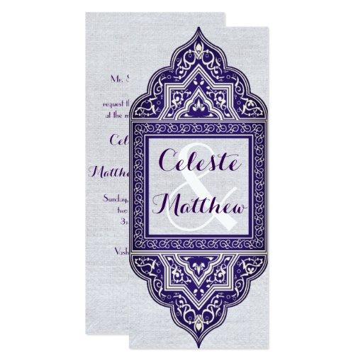 Arabesque Arab Muslim Moroccan Wedding / Party Card