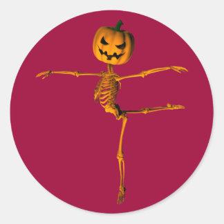 Arabesque Ballet Position Classic Round Sticker