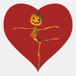 Arabesque Ballet Position Heart Sticker