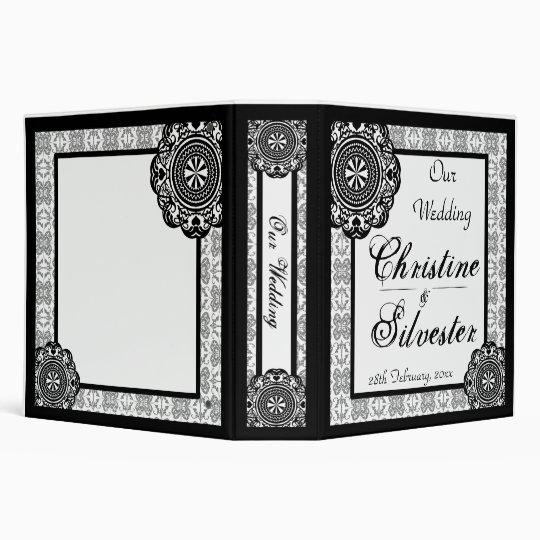 Arabesque Black Lace, 2 inch binder