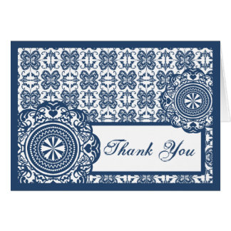 Arabesque Blue Lace, thank you Greeting Card