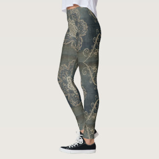 Arabesque Blue Leggings